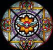 Witraż Ducha Świętego w prezbiterium